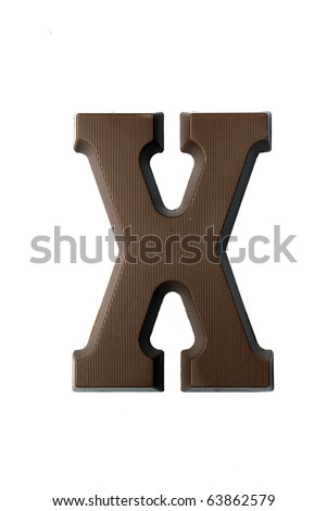 The letter X, special candy for the Sinterklaas celebration - stock photo