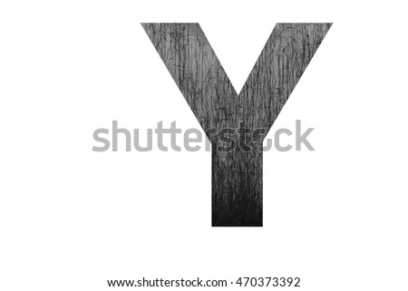 "The letter ""Y"" with crack-like branches (black and white) insided"