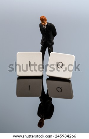 the letters  iq as a symbol photo for intelligence quotient - stock photo