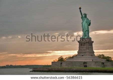 The Liberty statue, New York, USA - stock photo