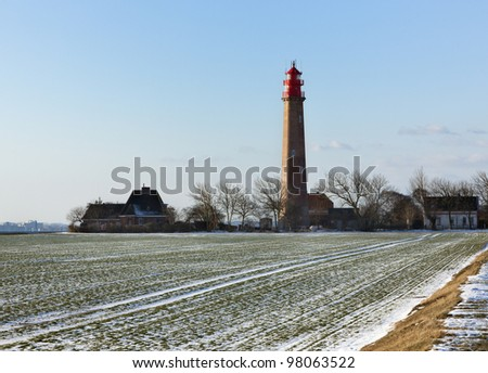 the lighthouse at Fl�¼gge, baltic sea island of Fehmarn
