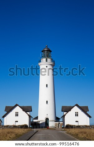 The lighthouse at Hirtshals, Denmark