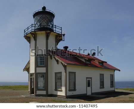 The lighthouse at Pt Carbillo in Mendocino County, California