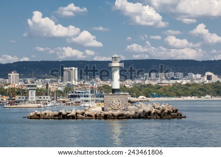 The lighthouse in Varna, Bulgaria - stock photo