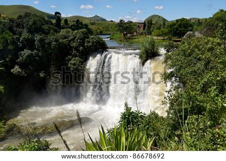 The Lily falls near Amepfy - stock photo