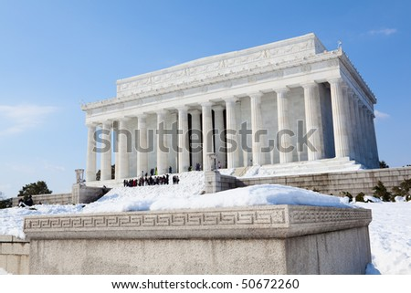 The Lincoln Memorial in Washington