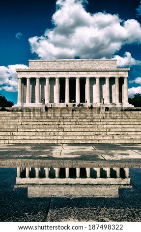 The Lincoln Memorial in Washington, DC. - stock photo