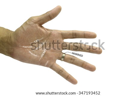 the line in hand - stock photo