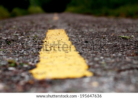 The line on the road - stock photo