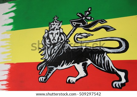 Lion Judah Wall Art Symbol Rastafari Stock Photo Royalty Free