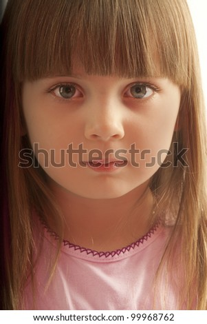 the little girl close-up - stock photo