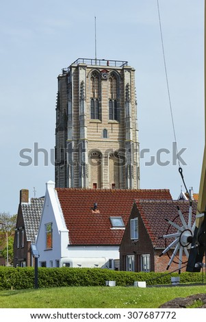 The little historical town Goedereede in the province of Zeeland, the Netherlands - stock photo