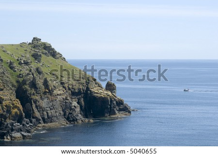 the lizard point the southernmost tip of land in england cornwall uk