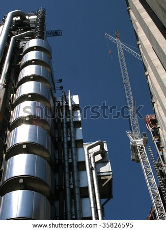 the lloyds building in the city of london - stock photo