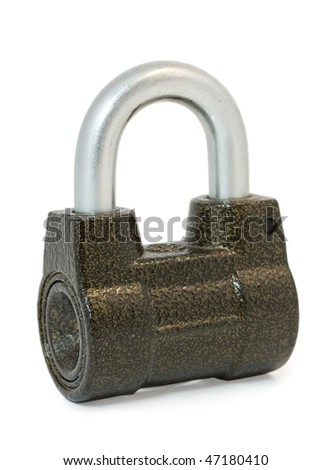The lock isolated on a white background