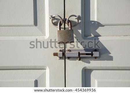 The lock on the door