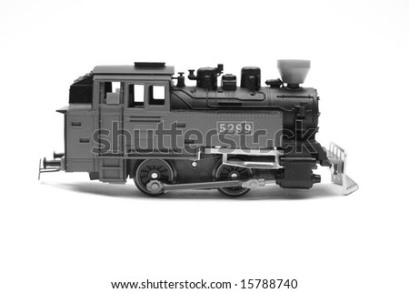 The locomotive of model of the railway - stock photo