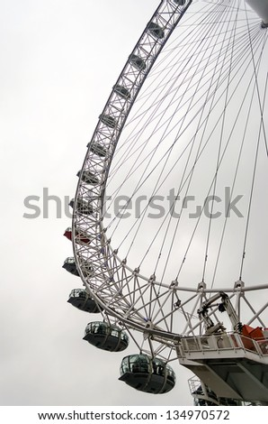 The London Eye Panoramic Wheel - stock photo