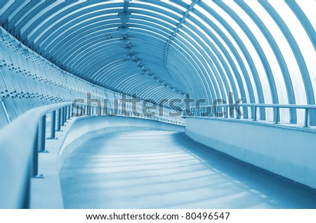 The long and winding corridor - stock photo