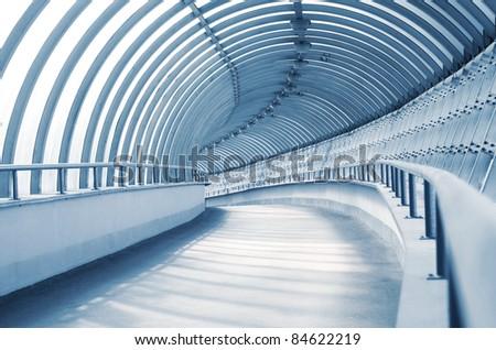 The long corridor - stock photo