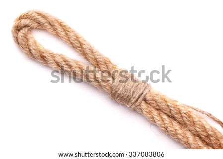 The loop of rope on a white background - stock photo