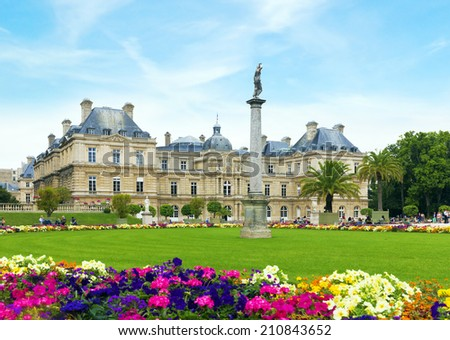 The Luxembourg Garden in Paris - stock photo