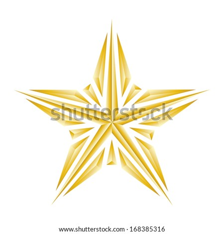 the luxury broken golden star on white background