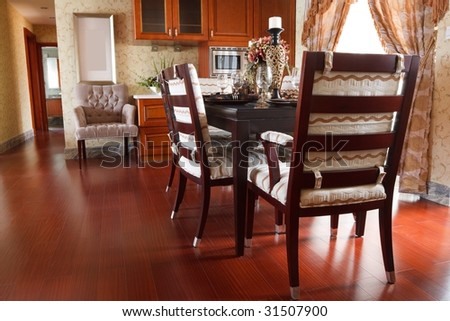 the luxury dining room interior