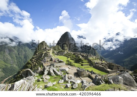 The Machu Picchu, castle in the sky