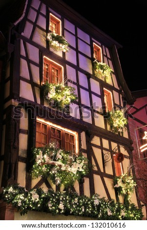 The magic of Christmas in Alsace - stock photo