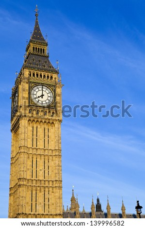 The magnificent Big Ben in London. - stock photo