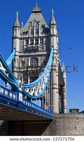 The magnificent Tower Bridge in London. - stock photo