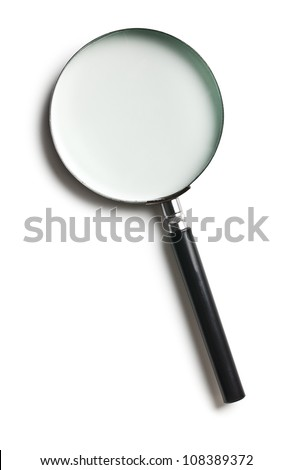 the magnifier on white background - stock photo