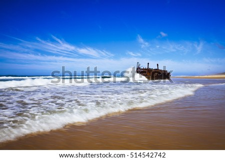 The Maheno Shipwreck on 75 Mile Beach, Fraser Island, Queensland
