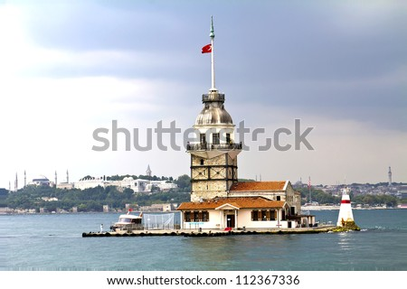 The Maiden's Tower in istanbul, Turkey
