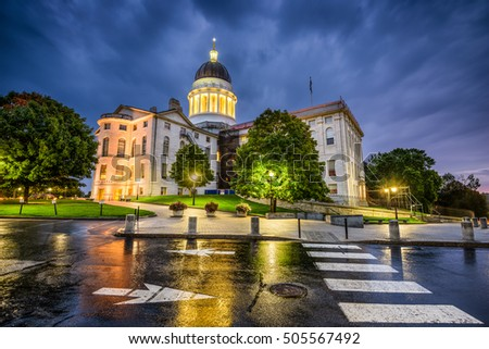 The Maine State House in Augusta, Maine, USA.