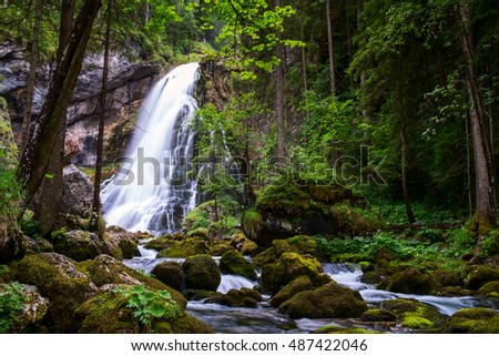 The majestic Gollinger Waterfall in Austria, Europe