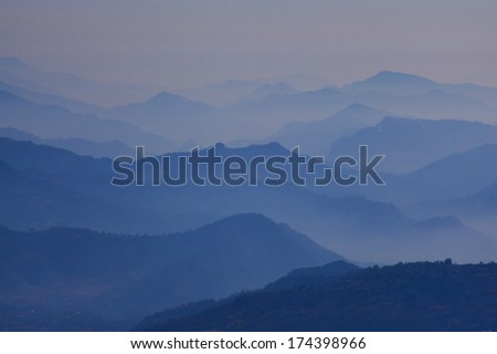 The majestic Himalayas at the sunrise time, Nepal