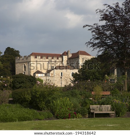 The majestic Leeds castle situated in the Kent region of England. - stock photo