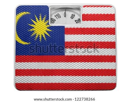 The Malaysia flag  painted on balance - stock photo