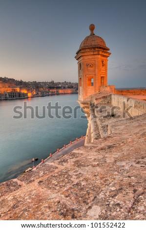 The Maltese Gardiola (Watch Tower) - stock photo