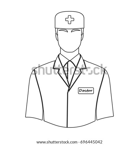 Man Doctor Uniform Medicine Single Icon Stock Illustration 696445042