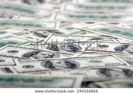 the many dollars. money background - stock photo