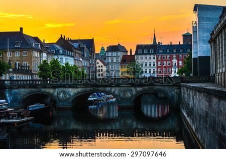 The Marble Bridge in Copenhagen  - stock photo
