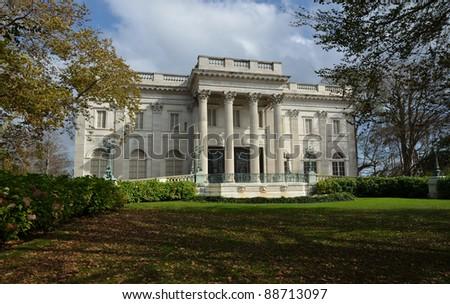 The Marble Palace Newport Rhode Island USA - stock photo
