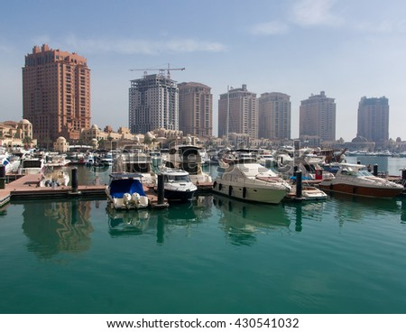 The Marina Bay  for boats and yachts in Doha, Qatar