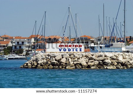 The Marina (Port) in Vodice, Croatia - stock photo