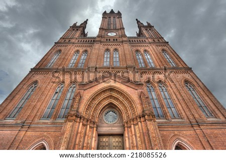 The Marktkirche church in Wiesbaden, Germany - stock photo