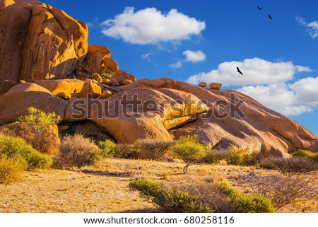 an outcropping of granite
