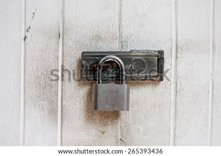 the master key lock hinge for security  home - stock photo